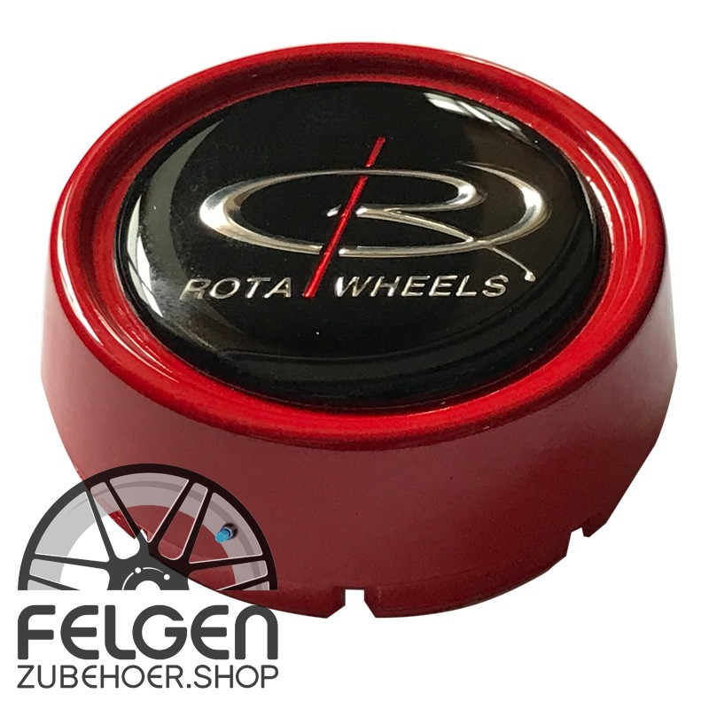 Nabendeckel ROTA Wheels medium in der Farbe Rot
