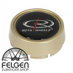Nabendeckel ROTA Wheels medium in der Farbe Gold
