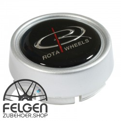 Nabendeckel ROTA Wheels medium in der Farbe Silber