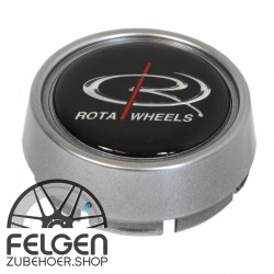 Nabendeckel ROTA Wheels medium in der Farbe Stahlgrau